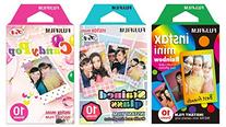 Instax Mini Instant Film Rainbow & Staind Glass & Candy Pop