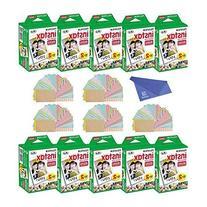 Fuji Instax Mini Instant Film 10 Pack  with Microfiber