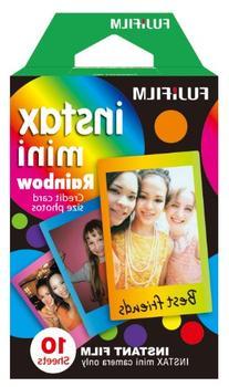 Fujifilm Instax Mini Rainbow Instant Film, 10 Photos/Pack