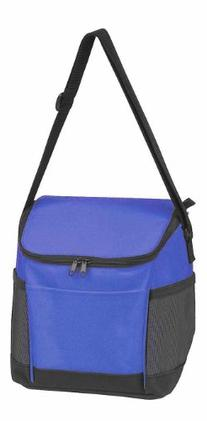 "9.5"" Insulated Cooler with Two  Front Pockets in Royal Blue"