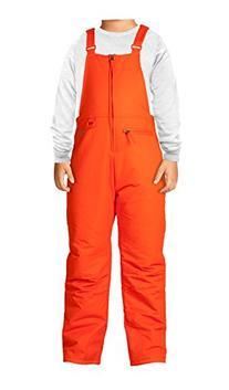 Arctix Insulated Youth Snow Bib Overalls, Sunset Orange,