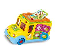 Intellectual school bus Activity Toy Vehicle with Music,