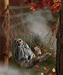 1 X Interactive Skeleton in Hammock spooky Halloween