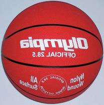 Intermediate / Women Red Rubber Basketballs - Set Of 6
