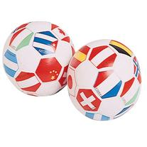 Foam Vinyl Covered Mini Toy International Soccer Balls