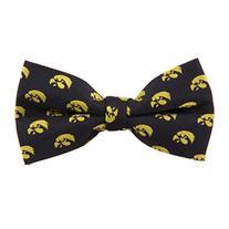 Iowa Hawkeyes Repeated Logo Bow Tie - NCAA College Team