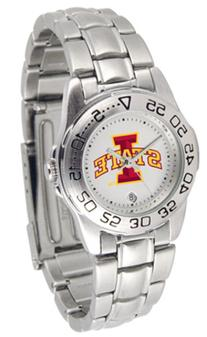 Iowa State Cyclones Gameday Sport Ladies' Watch with a Metal