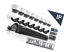 LaView 3MP IP 16 Camera Security System, 16 Channel IP PoE