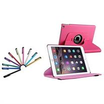 iPad Air 2 Case, by Insten Hot Pink Rotating Ultra Slim