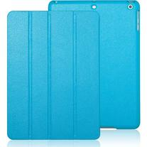 iPad Air 2 case, INVELLOP Caribbean Blue Leatherette Case