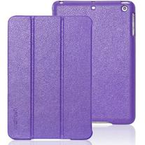 iPad mini case, INVELLOP Purple Leatherette Case Cover for