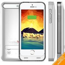 iPhone 5S / SE Battery Case, Alpatronix BX120 2400mAh Slim