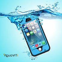 iPhone 5 5S SE Waterproof Case, iThrough 【New】 iPhone 5 5S SE Underwater Case/2M, Shockproof Dirtproof Snowproof Rain Proof, Heavy Duty Full