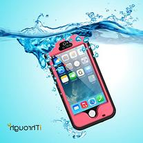 iPhone 5 5S SE Waterproof Case, iThrough 【New】 iPhone 5
