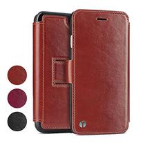 1byone Genuine Leather Wallet Stand Folio Case with Card