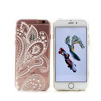 iPhone 6 Case, LUOLNH Henna White Floral Paisley Flower Hard