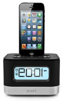 iPhone/iPod Charging Stereo Clock Radio with Dock & Accs