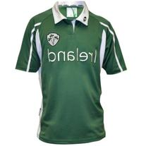 Ireland Mesh Performance Rugby Jersey Green & White, Large