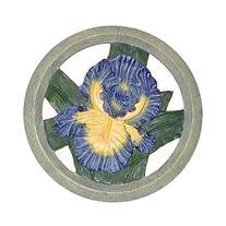 Iris Ceramic Garden Stepping Stone