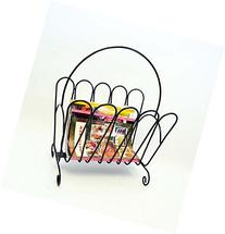Iron Floor Magazine Rack-19.5 Inches Tall including handle.