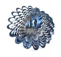 "Iron Stop 10"" 3D Metal Wind Spinner Animated Holographic"