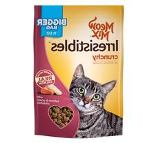 Meow Mix Irresistibles Cat Treats, Crunchy with Salmon and