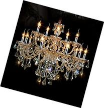 Generic Island Lights Crystals Chandelier 15 Lights Ceiling