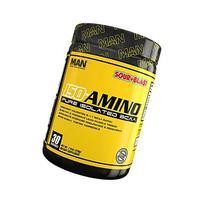 MAN Sports ISO-AMINO BCAA Amino Acid Powder, Sour Blast, 30