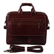 Polare Italian Leather Briefcase Should Bag Attache Fit 15.