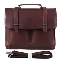 Polare Italy Oil Leather Briefcase Business Shoulder Laptop