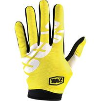 100% iTrake Glove Neon Yellow, L - Men's
