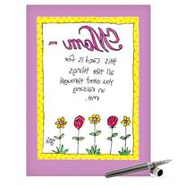 J0054 Jumbo Funny Mother's Day Card: Mom Went Thru With