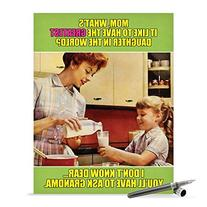 J0222 Jumbo Funny Mother's Day Card: Ask Grandma With