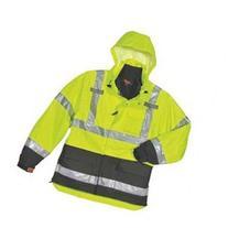 TINGLEY J24172 3-In-1 Jacket w/Hood, Hi-Vis Ylw/Grn, XL