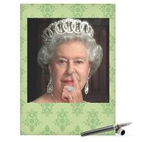 J8082 Jumbo Funny Birthday Card: Queen Picks Her Nose With