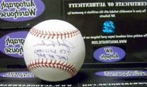 Jack Fisher autographed Baseball  inscribed Ted Williams