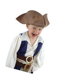 Elope Jack Sparrow Hat-Brown, Kid Size