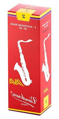 Vandoren Java Red Tenor Saxophone Reeds Strength 2, Box of 5