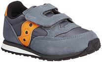 Jazz Hook & Loop Sneaker , Grey/Orange, 11 M US Little Kid