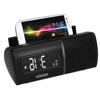 JENSEN JBD-100 Universal Bluetooth Clock Radio with Charging