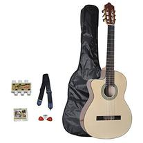 "ADM JC642 39"" Full Size Classical-Electric Cutaway Guitar"