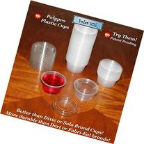 Polar Ice Jello Durable Plastic Shot Glasses, 2-Ounce,