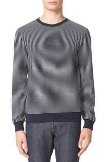 Men's A.p.c. Jeremie Stripe Sweatshirt, Size X-Large - Blue