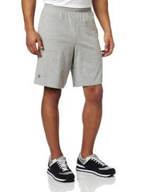 Champion Men's Jersey Short With Pockets, Oxford Grey, X-
