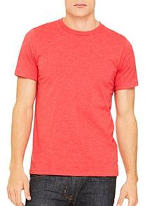 Bella 3001 Unisex Jersey Short Sleeve Tee - Heather Red,