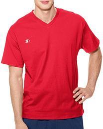 Champion Men's Jersey V-neck T-Shirt, Navy, Medium