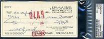 Jesse Haines Signed Psa/dna 1971 Check Autograph