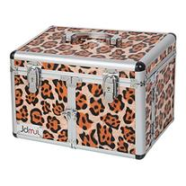 JUMBL™ Leopard Print Cosmetic/Jewelry Train Case