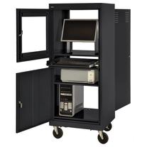 Sandusky JG2663-09/BLK Black Steel Mobile Computer Security