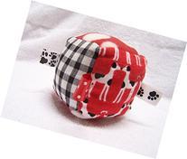 Jingle Cube Red & Black Dogs fabric sensory cube sensory